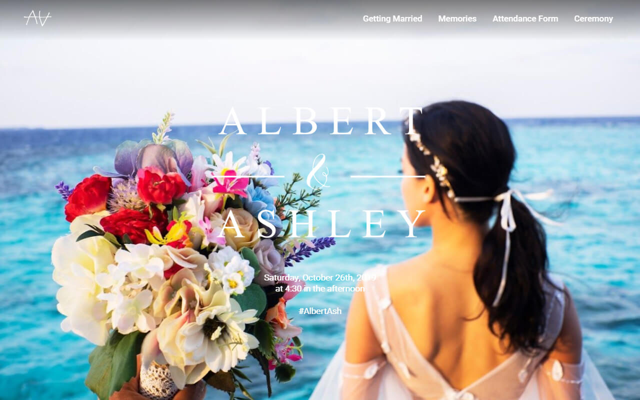 You are cordially  invited to the wedding of Albert & Ashley